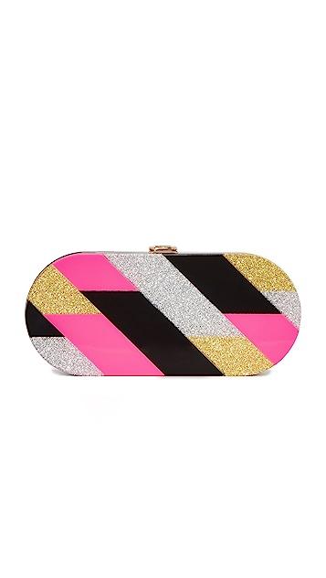 Milly Pink Geo Oval Clutch