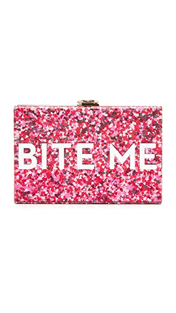 Milly Glitter Bite Me Clutch