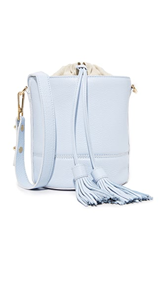 Milly Astor Drawstring Bucket Bag - Powder Blue