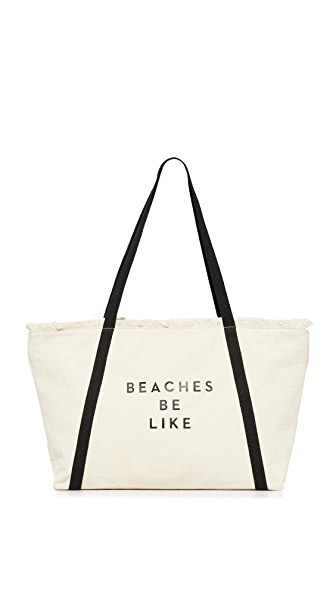 Milly Canvas Tote - Natural/Black