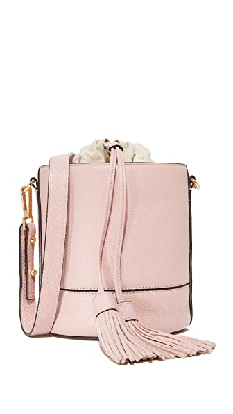 Milly Astor Drawstring Bucket Bag - Dusty Rose