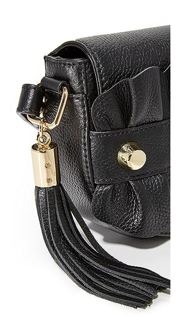 Milly Ruffle Cross Body Saddle Bag