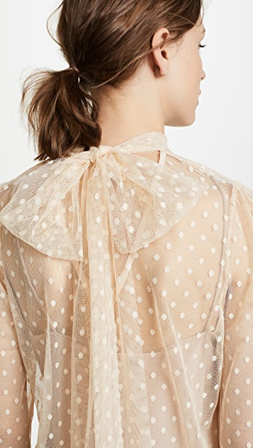Milly Dot Tulle Kitty Blouse