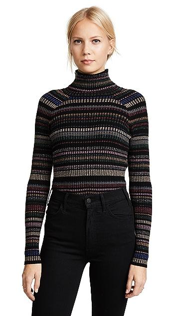 Milly Metallic Stripe Pullover