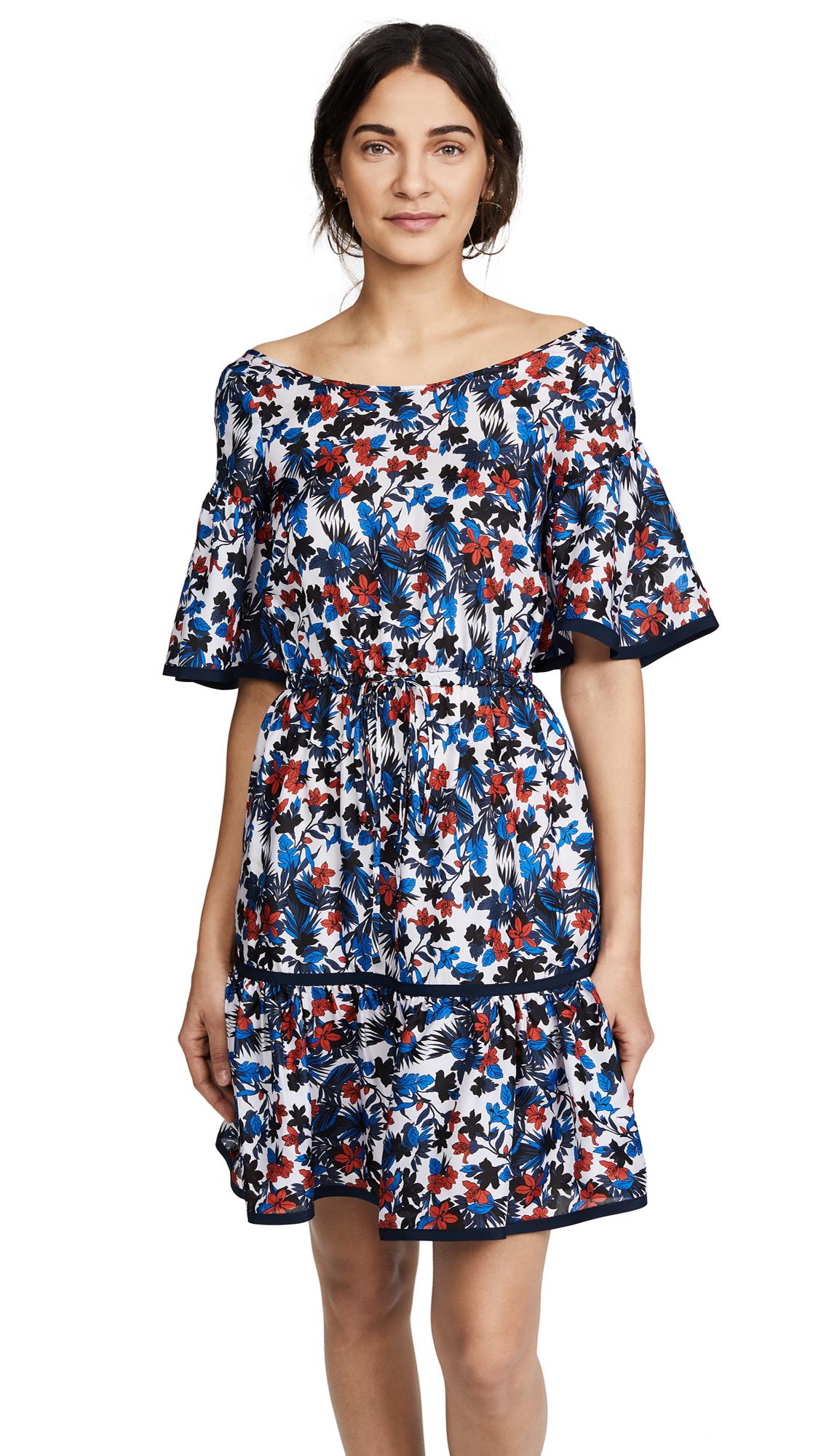 Milly Silk Rose Dress