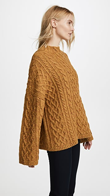 Milly Oversized Fisherman Sweater