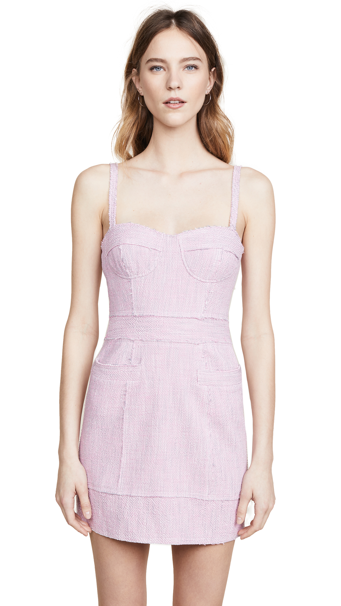 Milly Tweed Bustier Dress - Pink