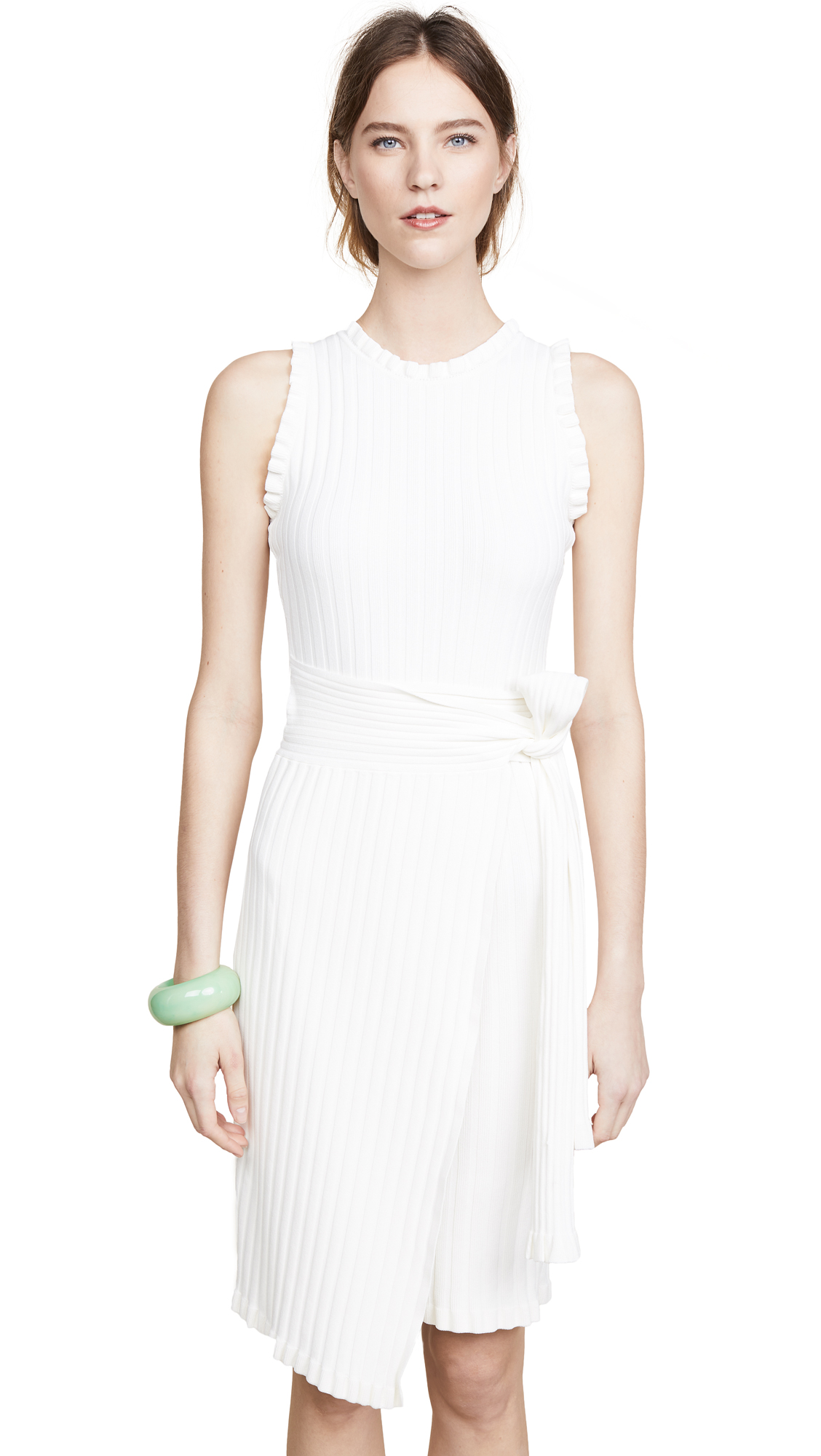 Milly Wrap Dress In White