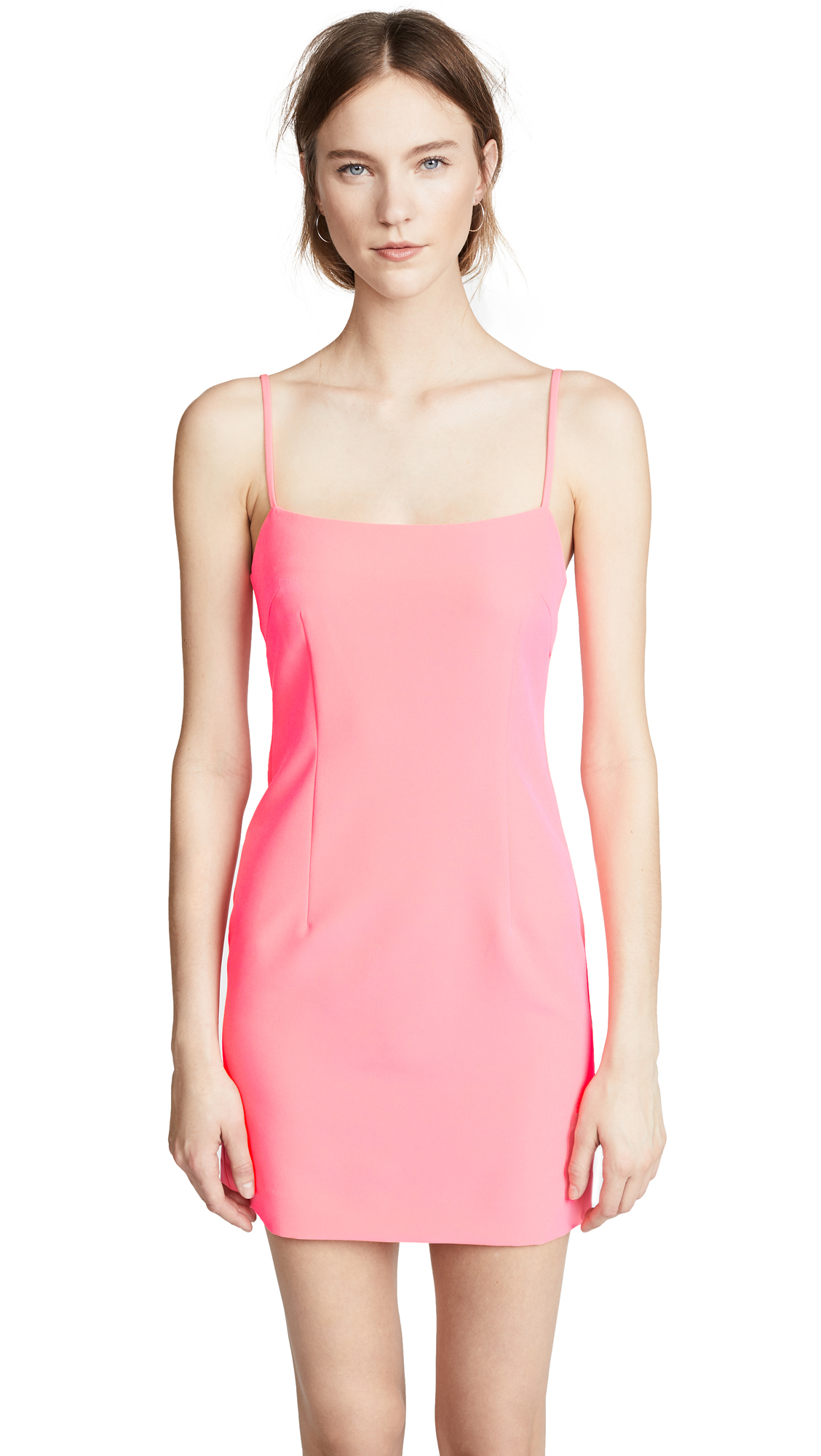 Milly Cady Slip Dress In Fluo Pink