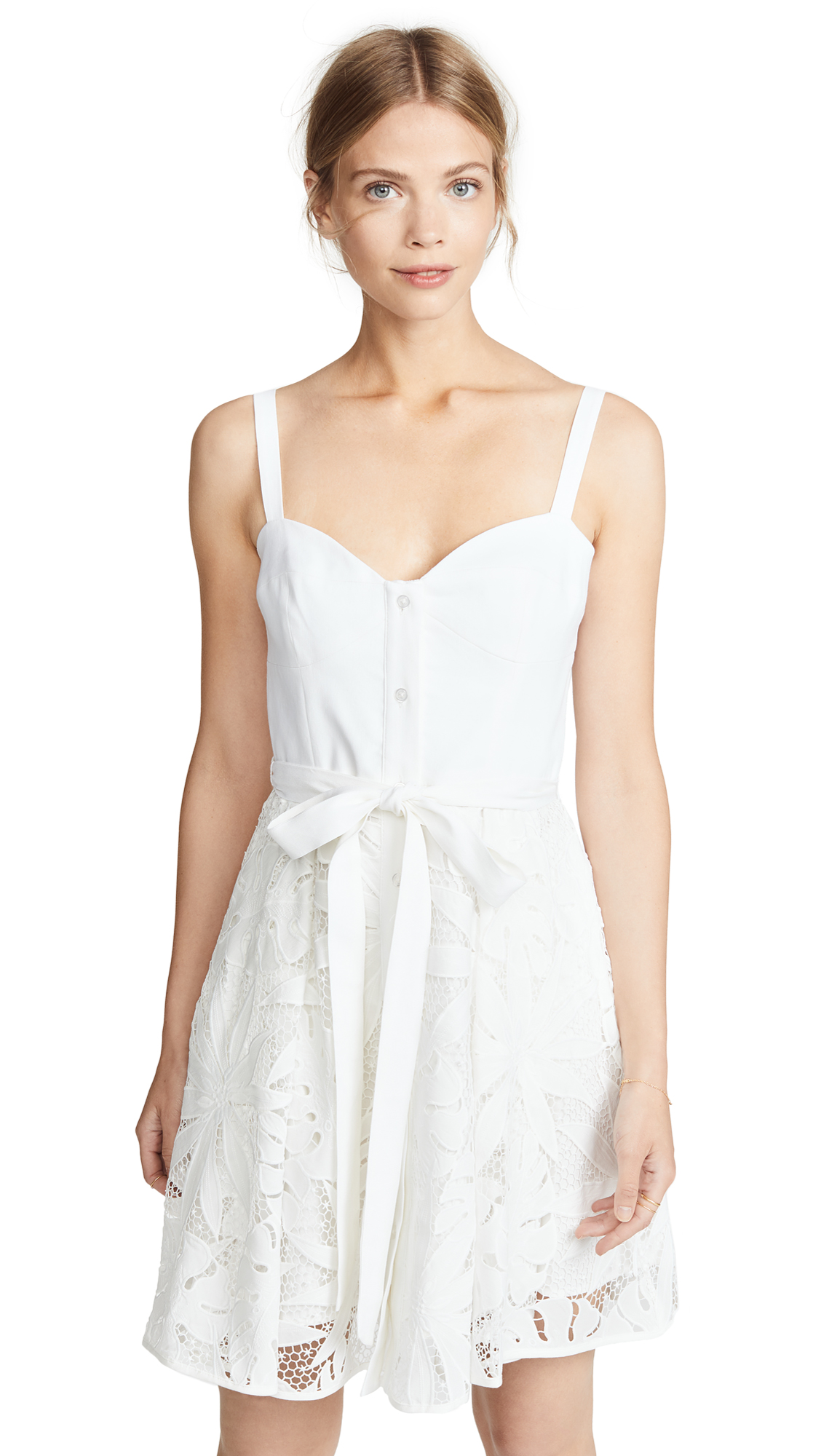 Milly Bustier Mini Dress