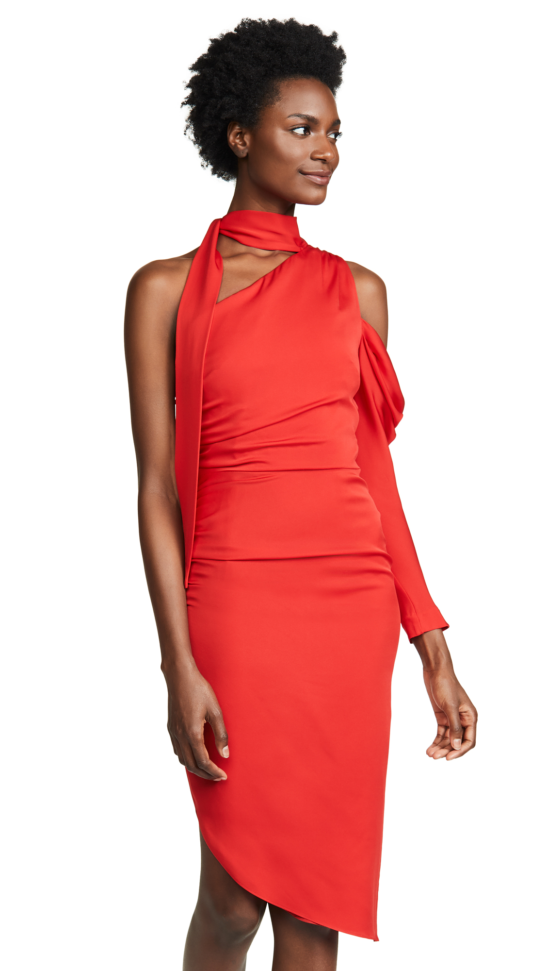 Milly Coleen Dress In Scarlet