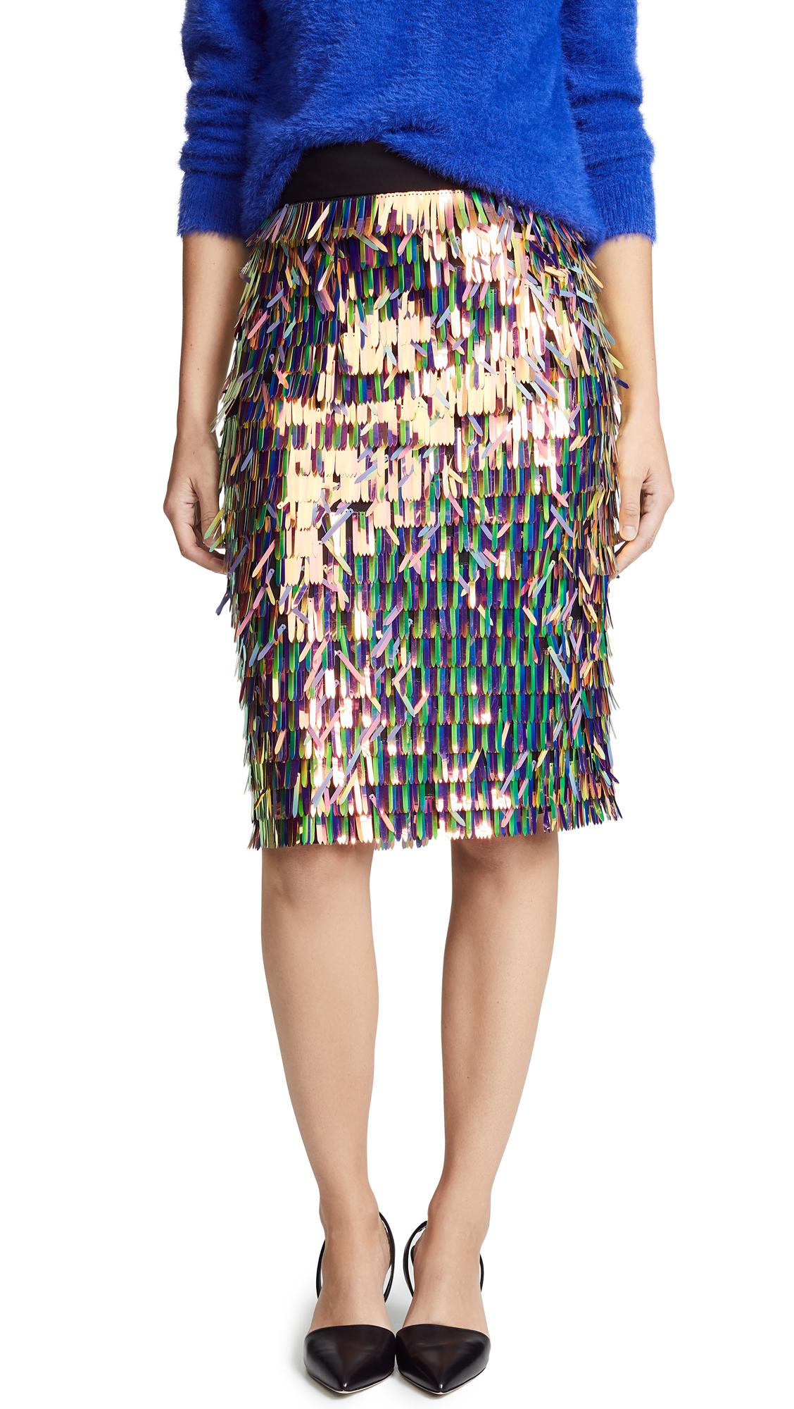 Matchstick Pencil Skirt, Multi
