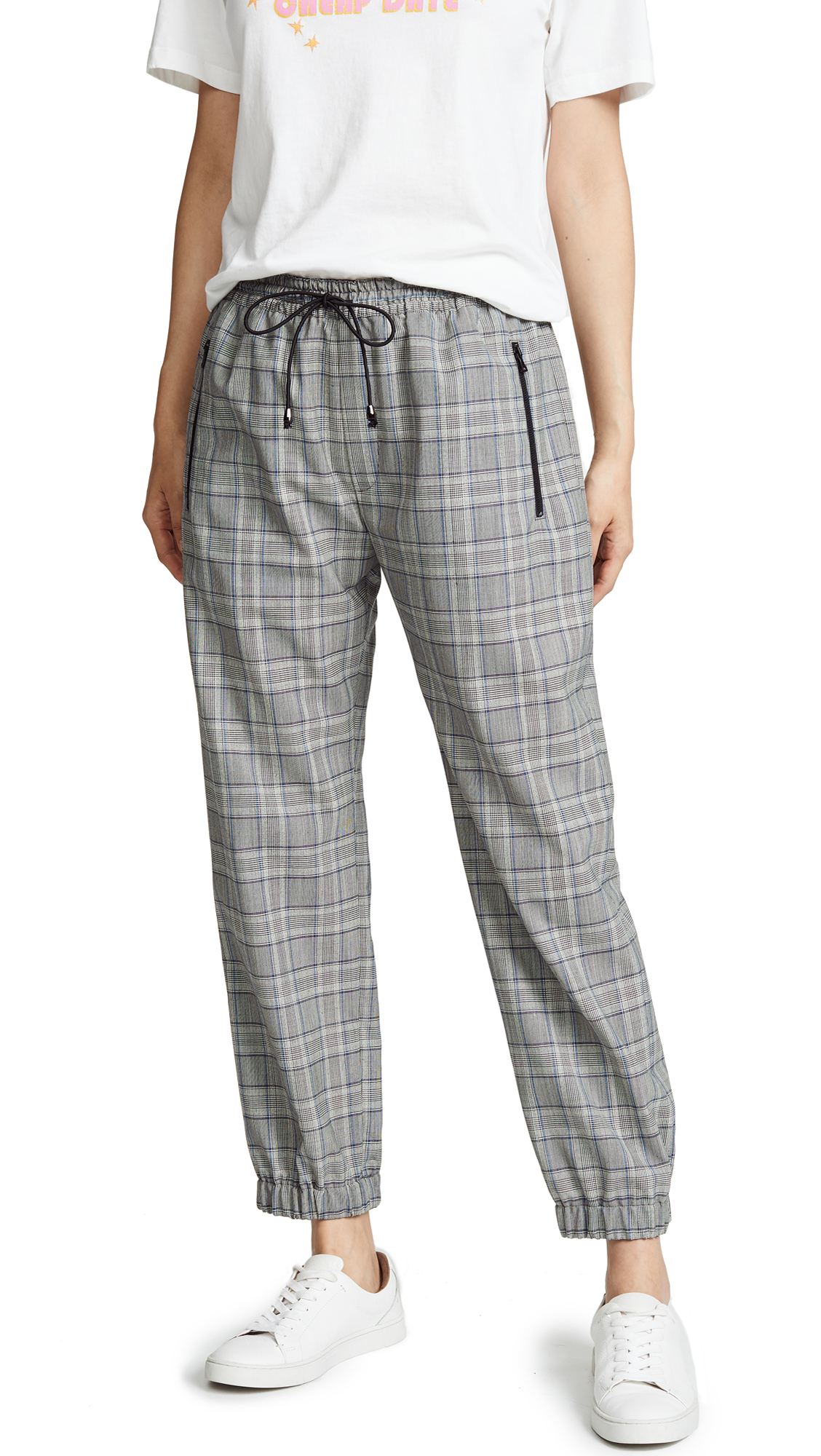 Milly Jogger Pants In Check