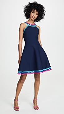 25b7c4e27f7 Milly. Diamond Cut Flare Dress