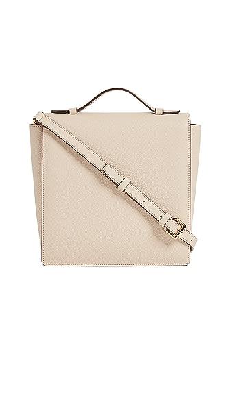 MILMA Square Flap Shoulder Bag In Nude Beige