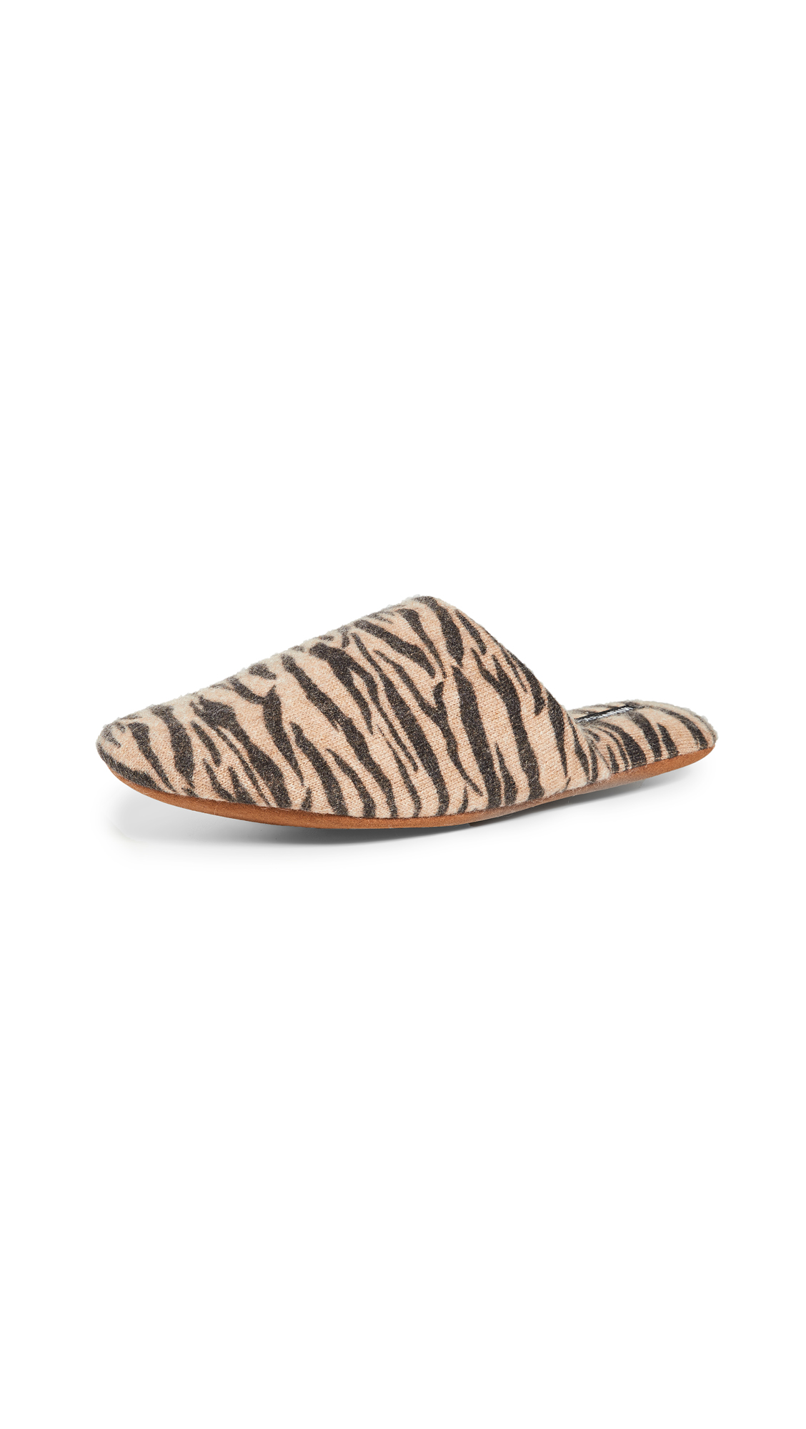Minnie Rose Tiger Cashmere Slippers – 50% Off Sale