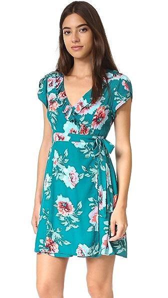 Minkpink Pretty Primrose Wrap Tea Dress - Multi