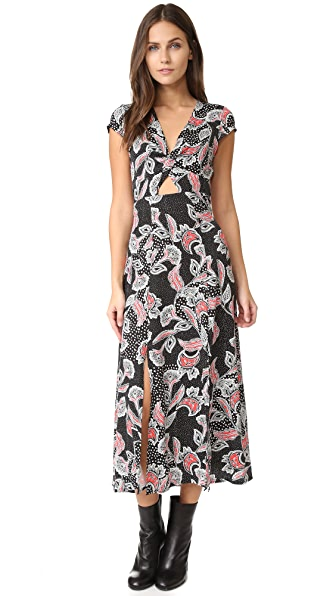 MINKPINK Twist Front Midi Dress - Multi