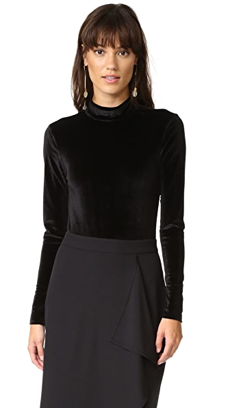 MINKPINK Tell Tale Backless Velvet Bodysuit