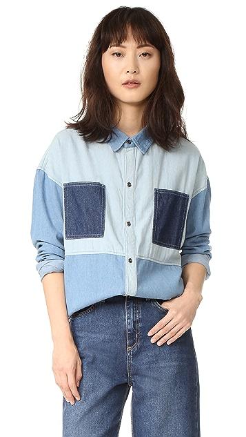 MINKPINK Soul Patch Oversize Denim Shirt