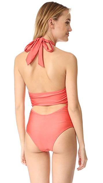 MINKPINK Just Peachy Ruched One Piece
