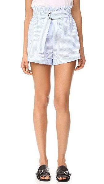 MINKPINK Stripe D Ring Paperbag Shorts