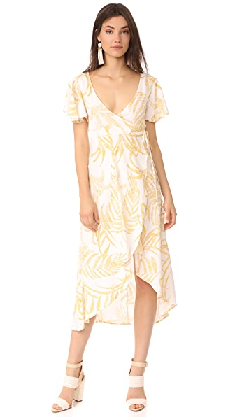 MINKPINK Paradise Waterfall Wrap Dress In Multi