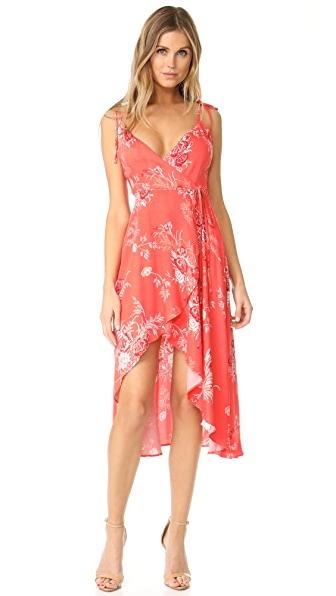 MINKPINK Hotsprings Waterfall Wrap Dress - Multi