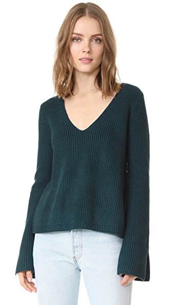 MINKPINK Mona Split Sleeve Sweater - Dark Teal