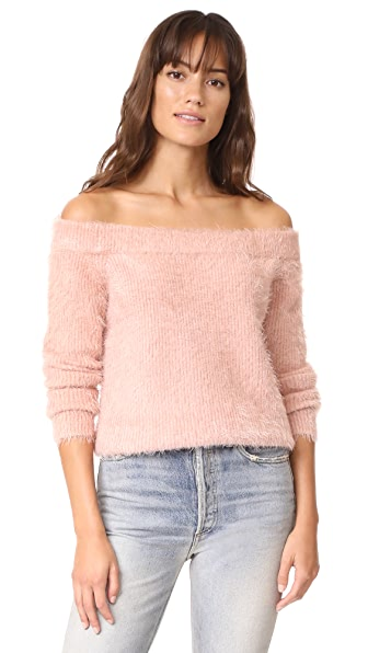 MINKPINK Florentine Off Shoulder Sweater