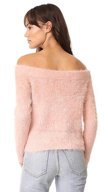 MINKPINK Florentine Off Shoulder Sweater