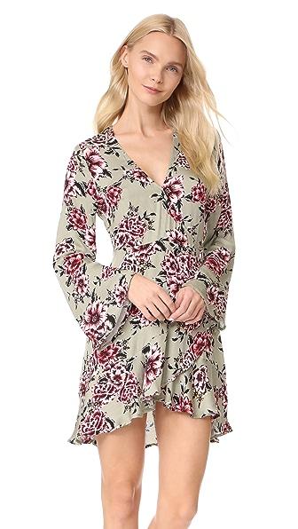 MINKPINK Femme Flora Wrap Dress In Multi