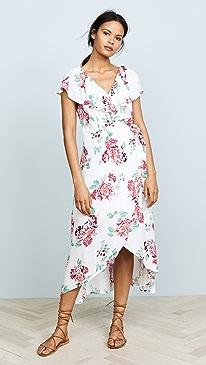 MINKPINK. Pretty Petals Wrap Front Dress