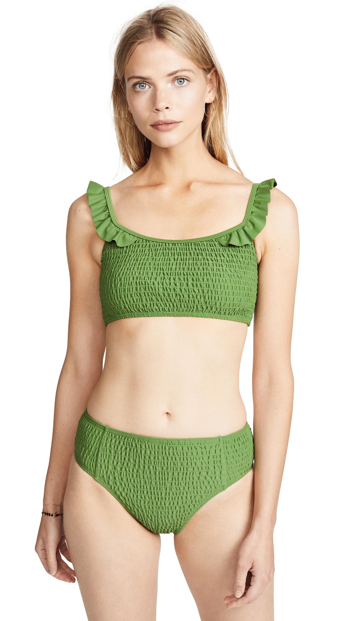 MINKPINK Lush Bikini Top In Greenery