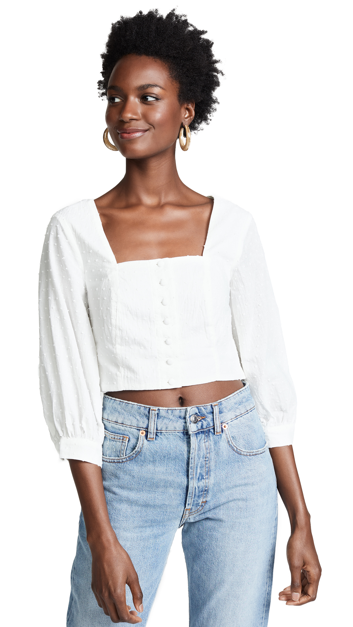 MINKPINK Victoria Top in Off White