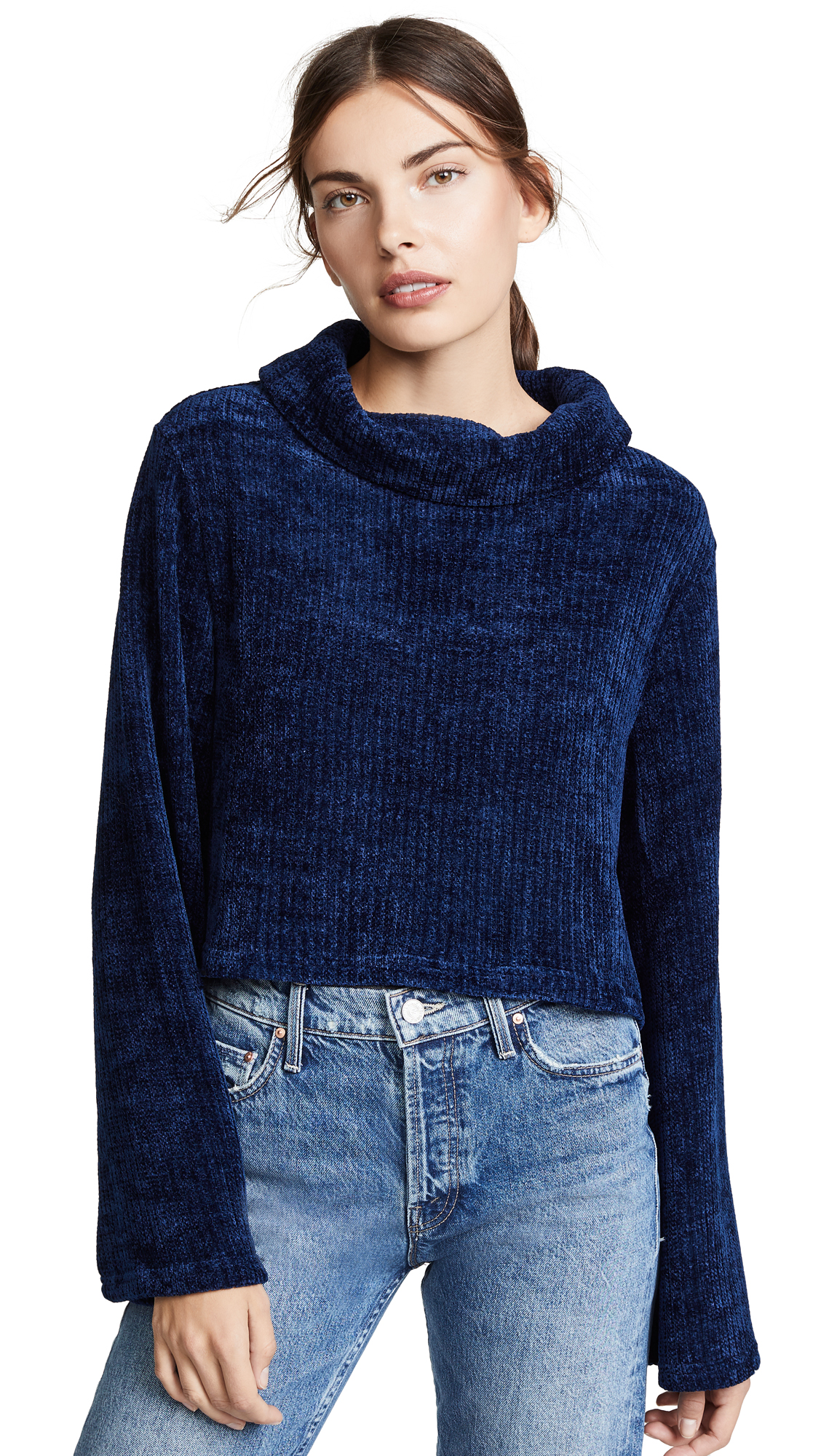 MINKPINK Whole Hearted Sweater in Midnight