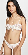 MINKPINK The Bay Frill Bandeau Bikini Top