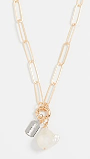 Maison Irem Chain Cultured Pearl Razor Necklace