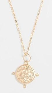 Maison Irem Колье с монетами с камнями в виде совы
