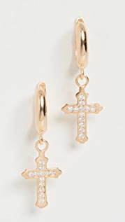 Maison Irem Cross Hoop Pair Earrings
