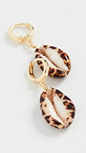 Maison Irem Shelly Terracotta Tiger Earrings