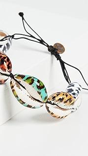 Maison Irem Браслет Multiple с ракушками и леопардовым принтом