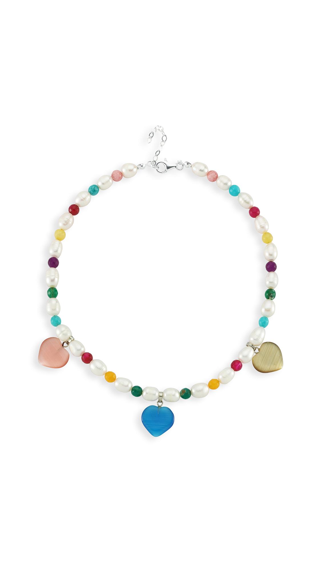 Maison Irem Pearl Rainbow Necklace