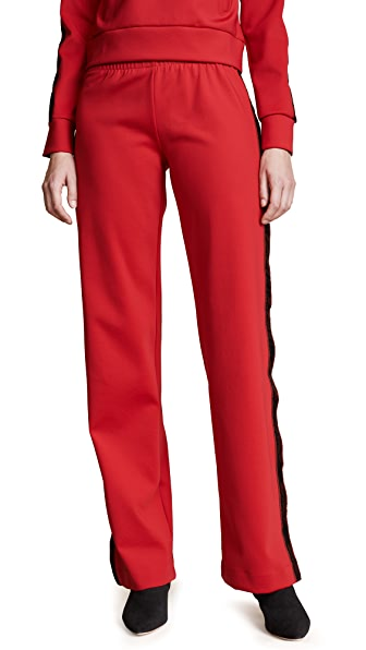 M I S B H V Extacy Button Up Trousers In Red