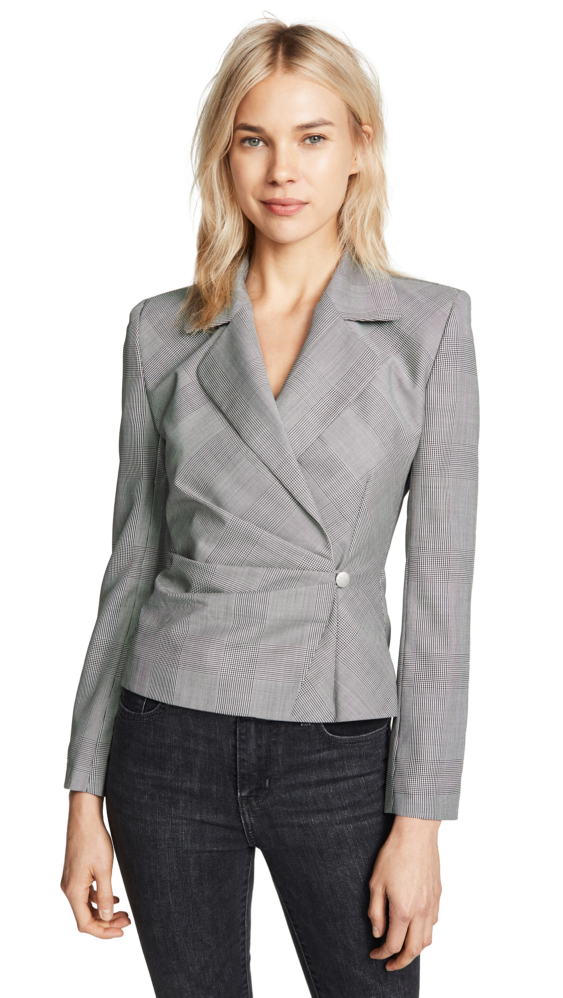 M I S B H V Little Gray Wool Suit Blazer