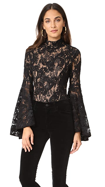 Misha Collection Lolita Lace Thong Bodysuit