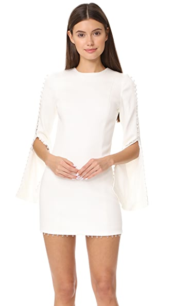 Misha Collection Analiese Mini Dress In Ivory