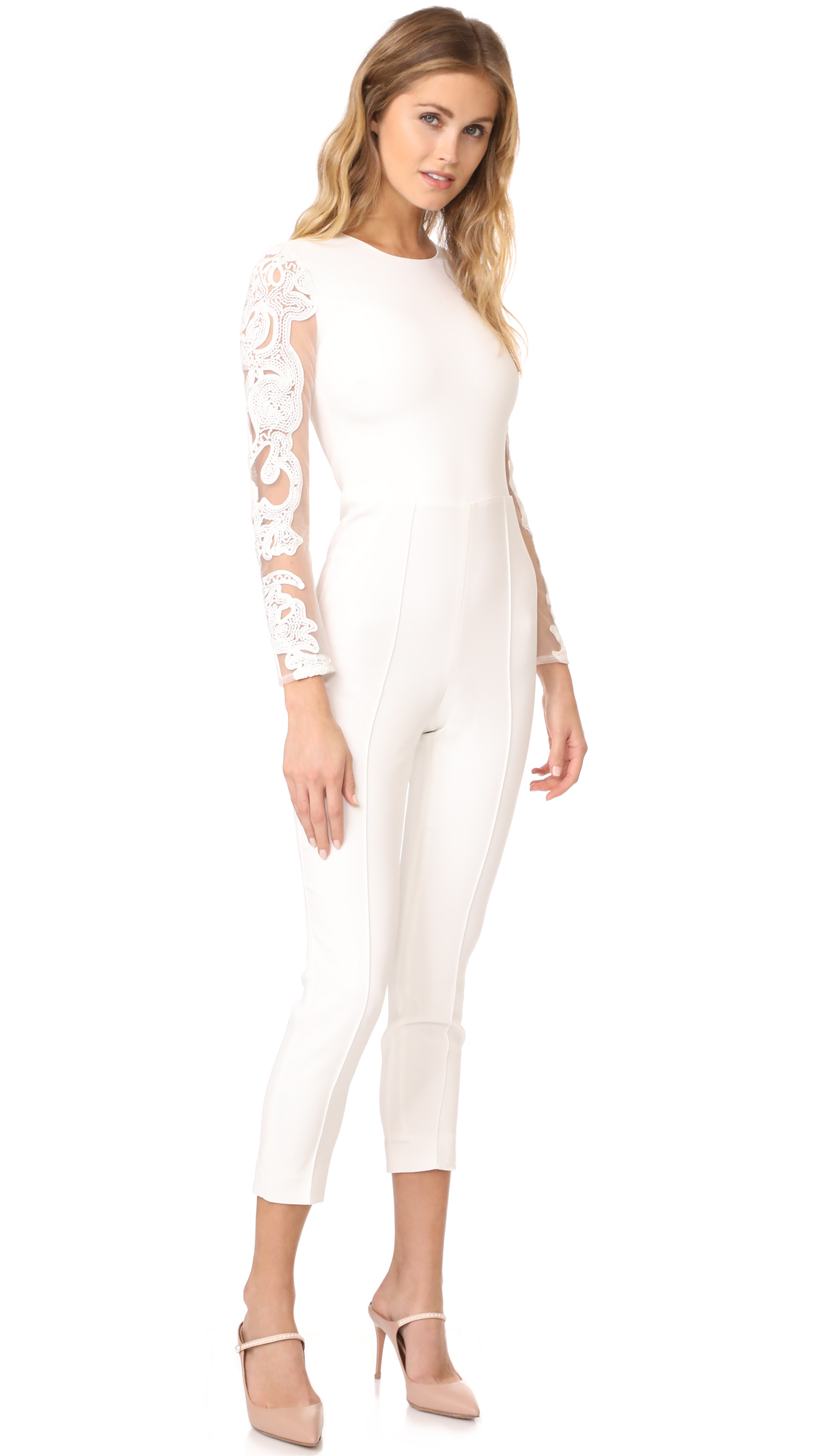 Misha Collection Geena Lace Pantsuit - Ivory