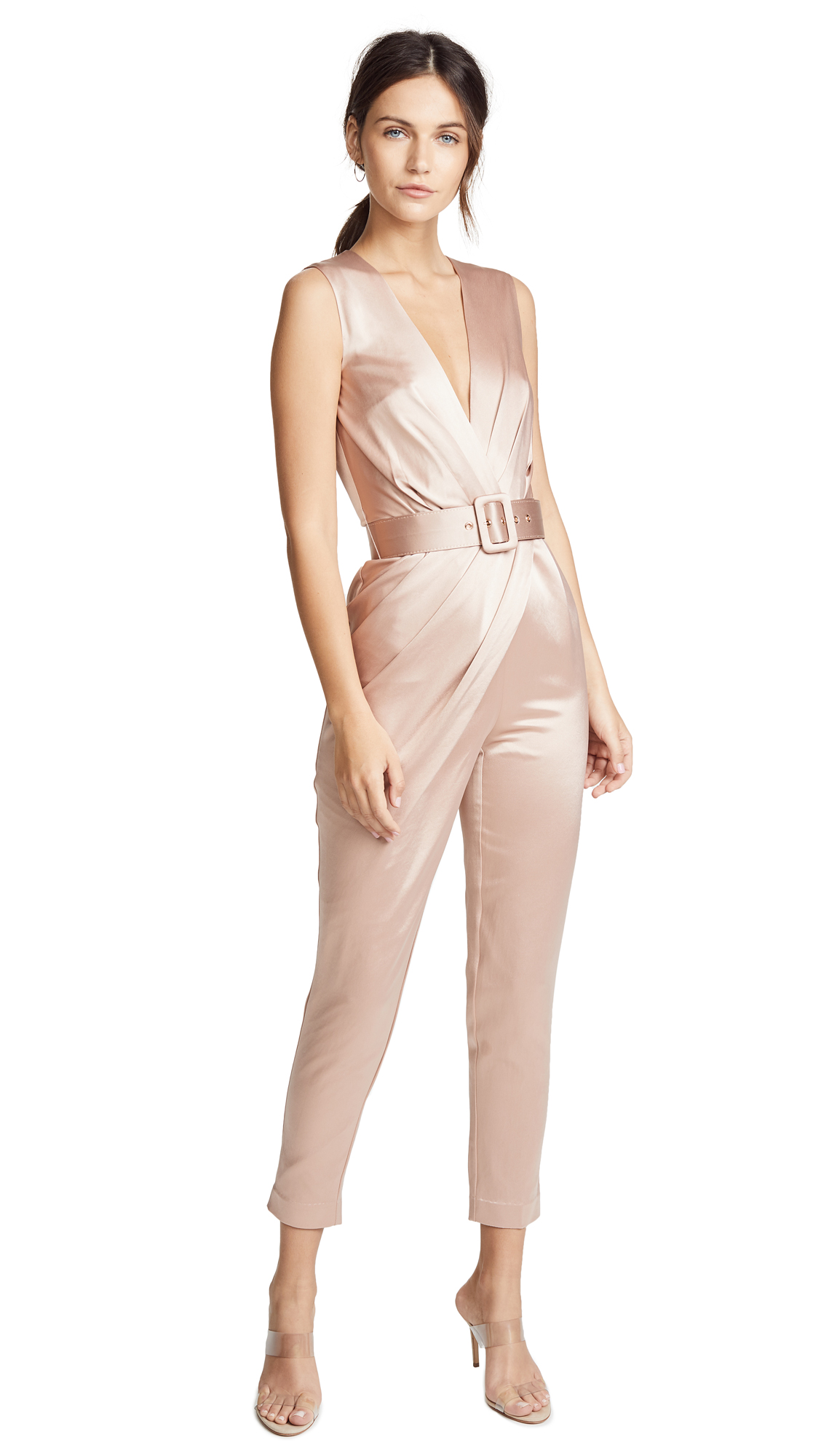 Misha Collection Kaela Jumpsuit In Nude