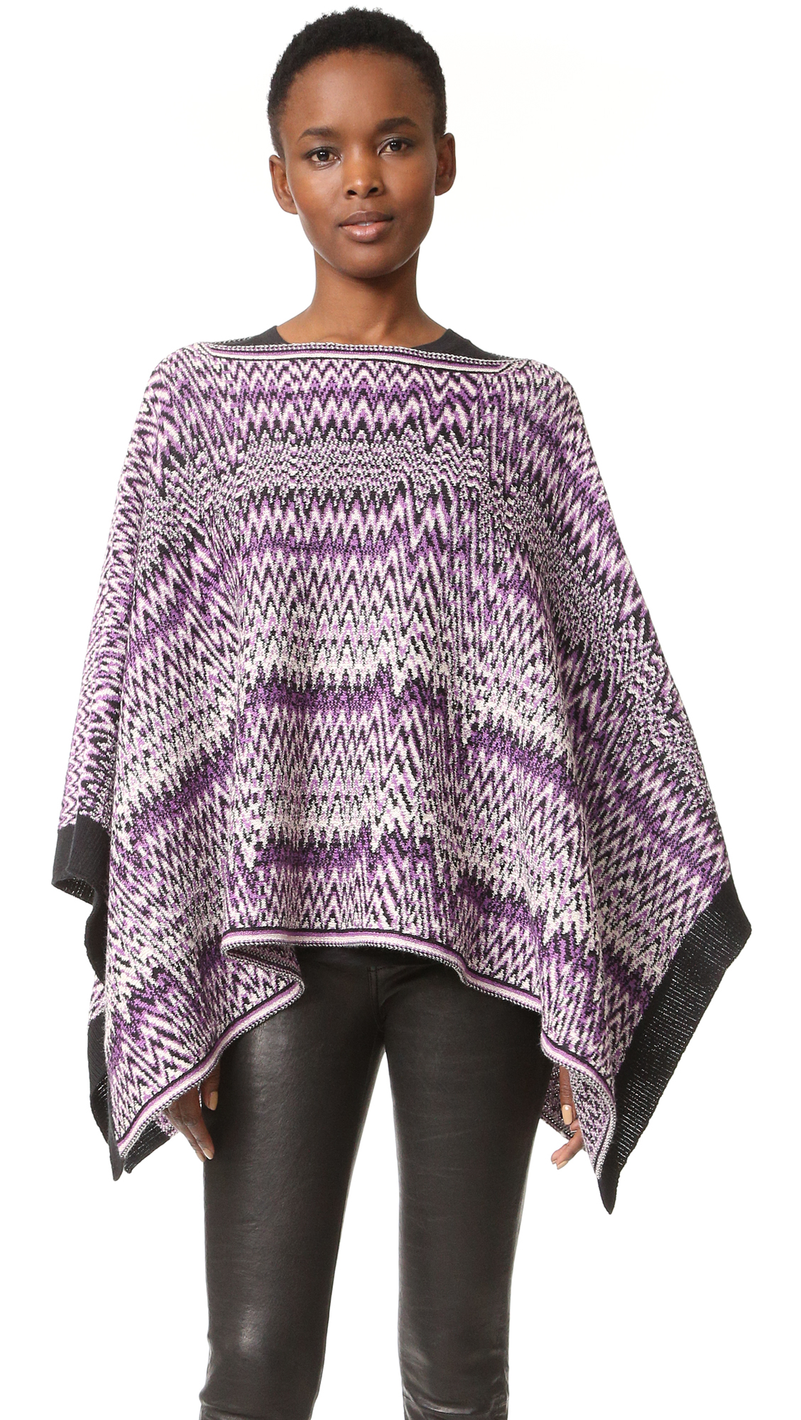 Missoni Zigzag Poncho - Purple Multi at Shopbop